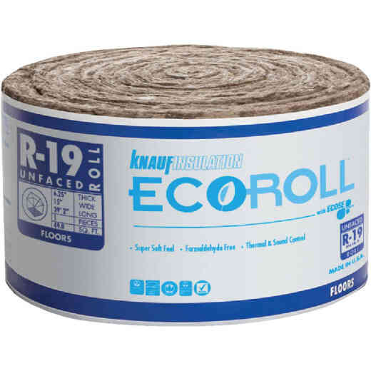Knauf R-19 15 In. x 39 Ft. Standard Unfaced Roll Fiberglass Insulation