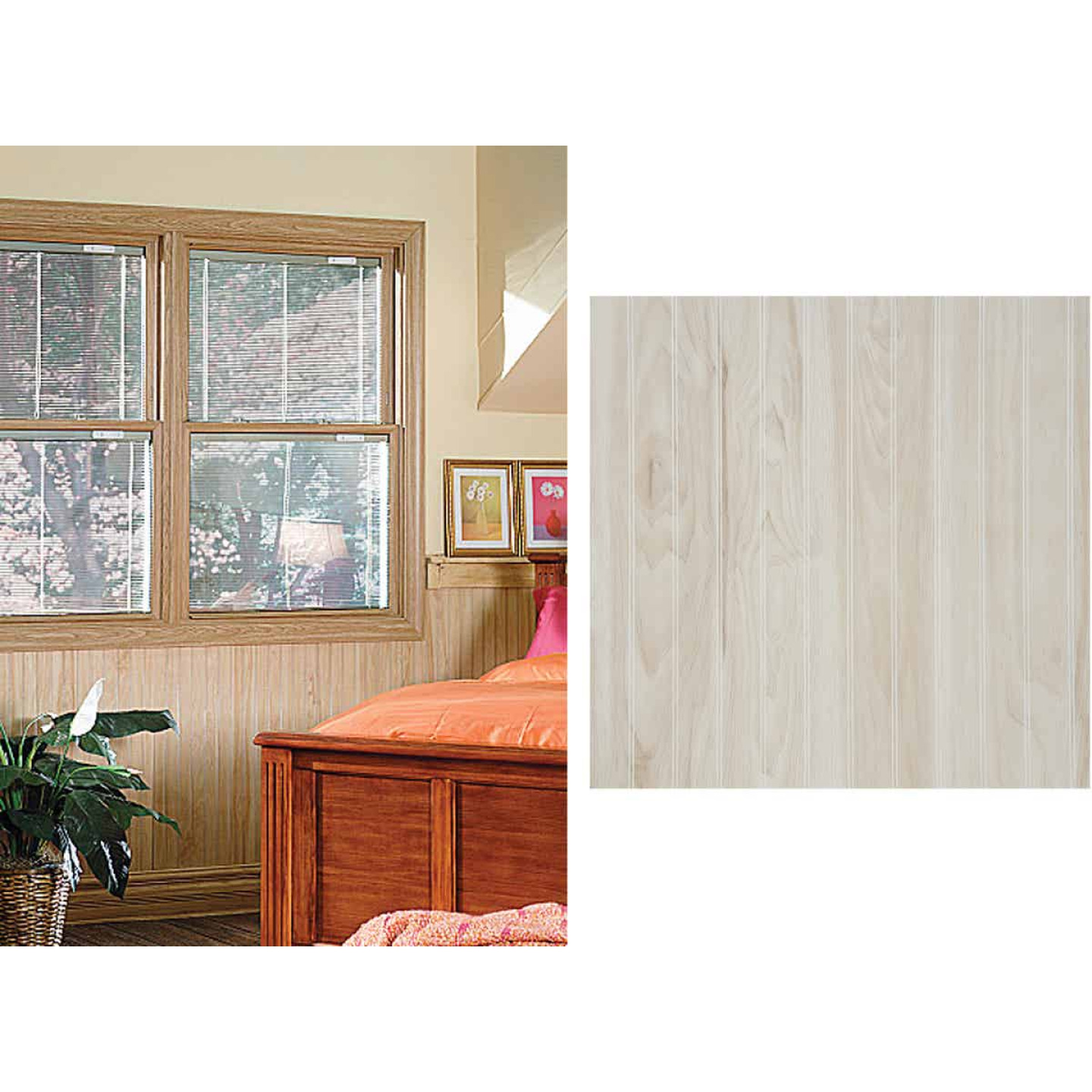 DPI 4 Ft. x 8 Ft. x 1/8 In. Frosted Maple Woodgrain Wall Paneling Image 1