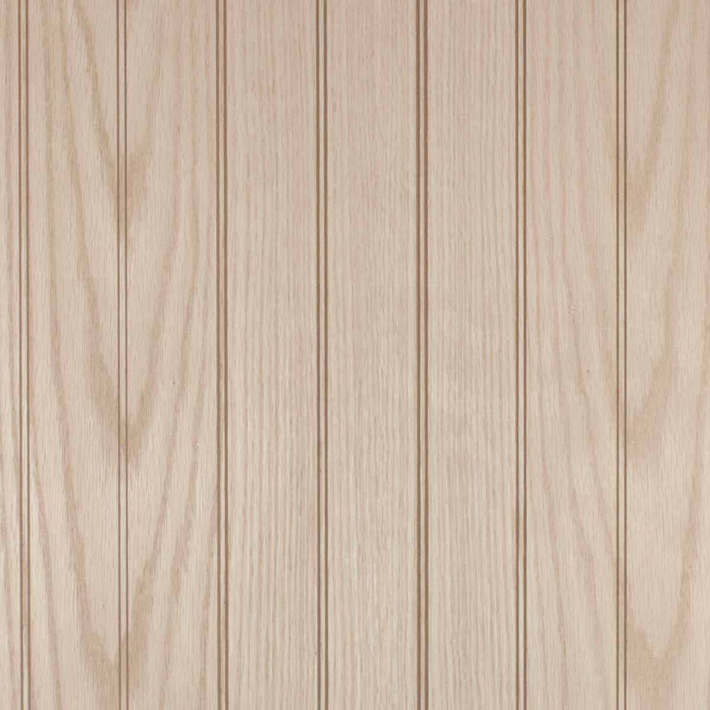Global Product Sourcing 4 Ft. x 8 Ft. x 1/4 In. Vintage Oak Beaded Classic Wood Veneer Wall Paneling Image 1