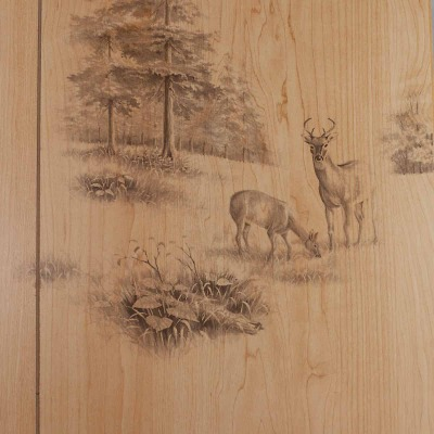 Global Product Sourcing 4 Ft. x 8 Ft. x 1/8 In. Woodsman Random Groove Profile Wall Paneling