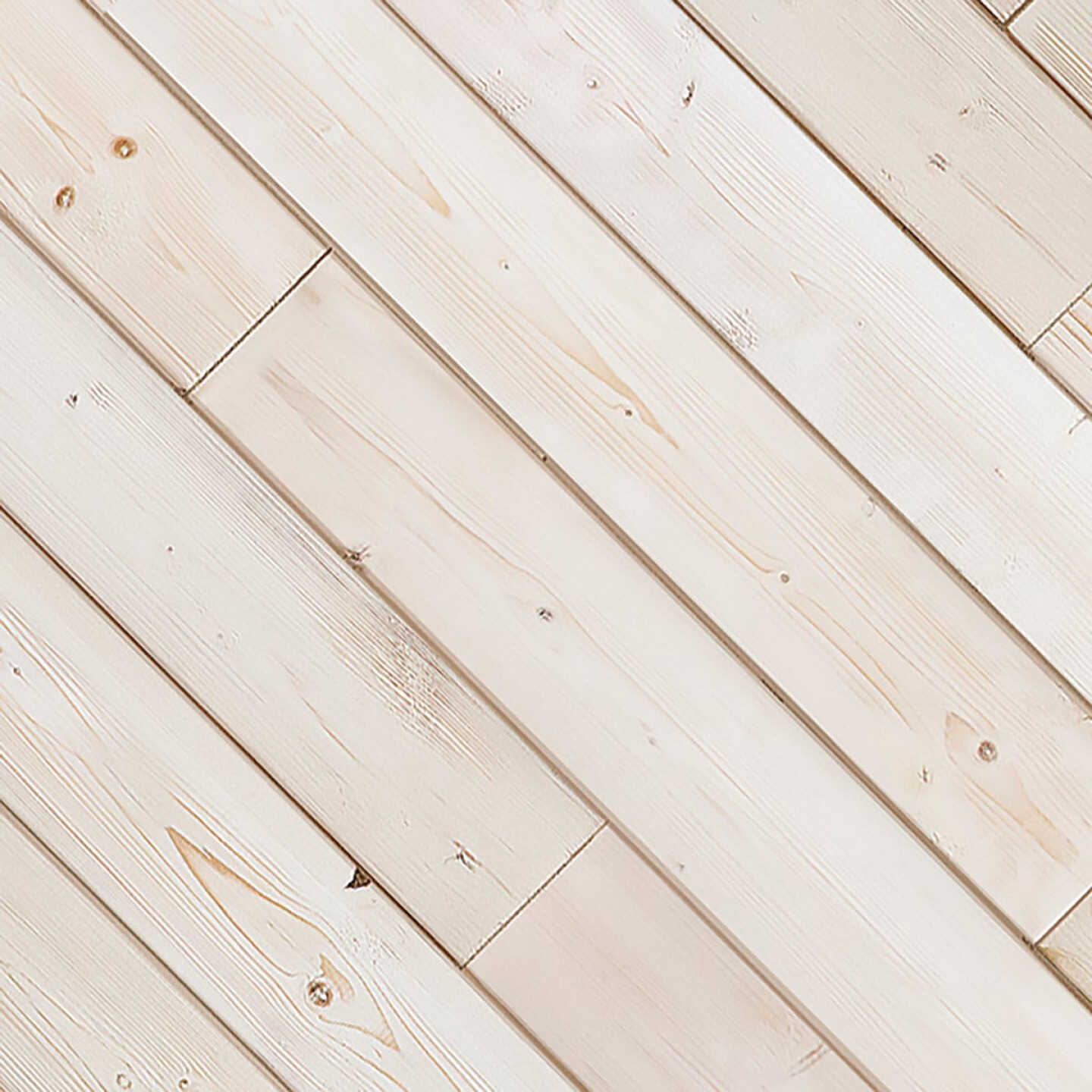 Global Product Sourcing 3-1/2 In. W. x 1/4 In. Thick Solid Wood White Reclaimed Wood Wall Plank Image 1