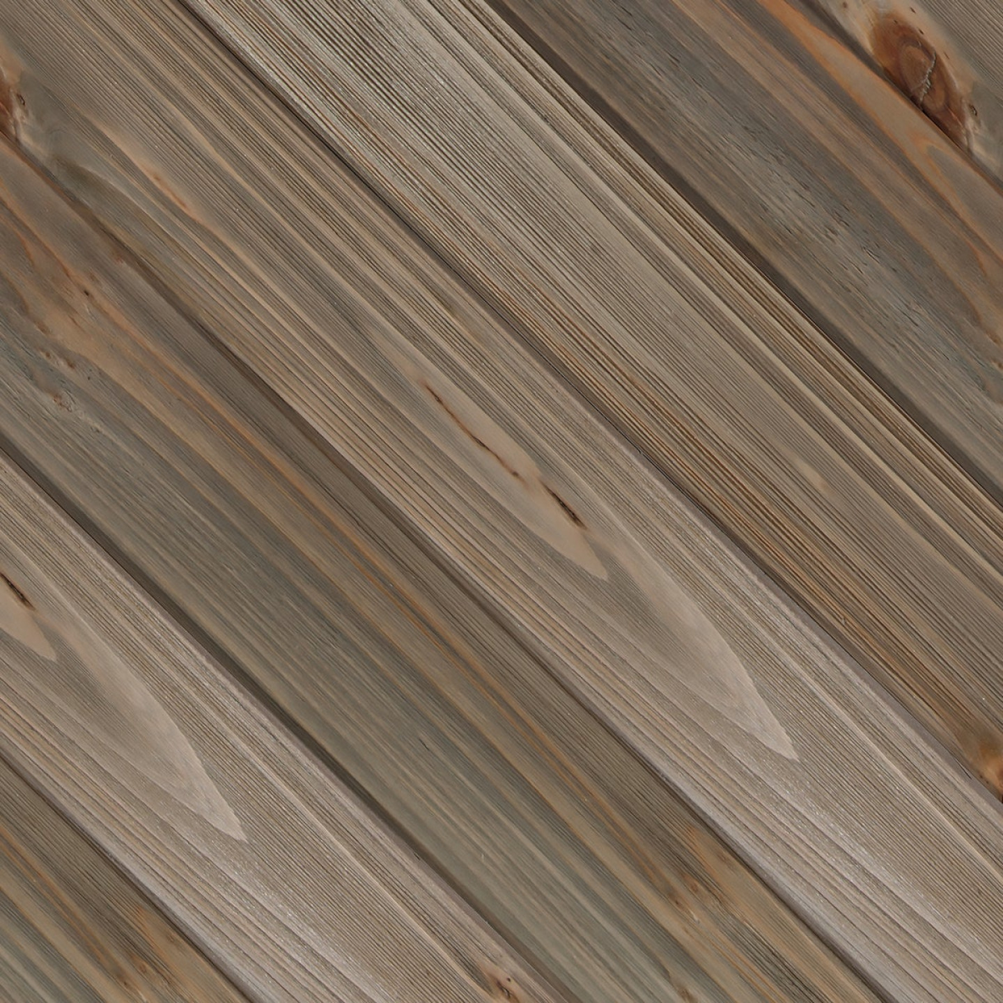 Global Product Sourcing 3-1/2 In. W. x 1/4 In. Thick Solid Wood Gray Reclaimed Wood Wall Plank Image 1