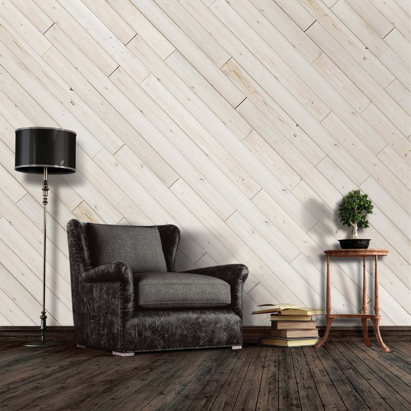 Global Product Sourcing 5.375 In. W x 5/16 In. Thick White Reclaimed Wood Shiplap Board Image 3