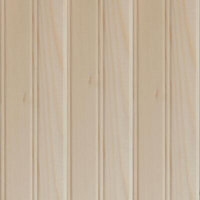 Global Product Sourcing 3-1/2 In. W. x 8 Ft. L. x 1/4 In. Thick Knotty Pine Reversible Profile Wall Plank (6-Pack)