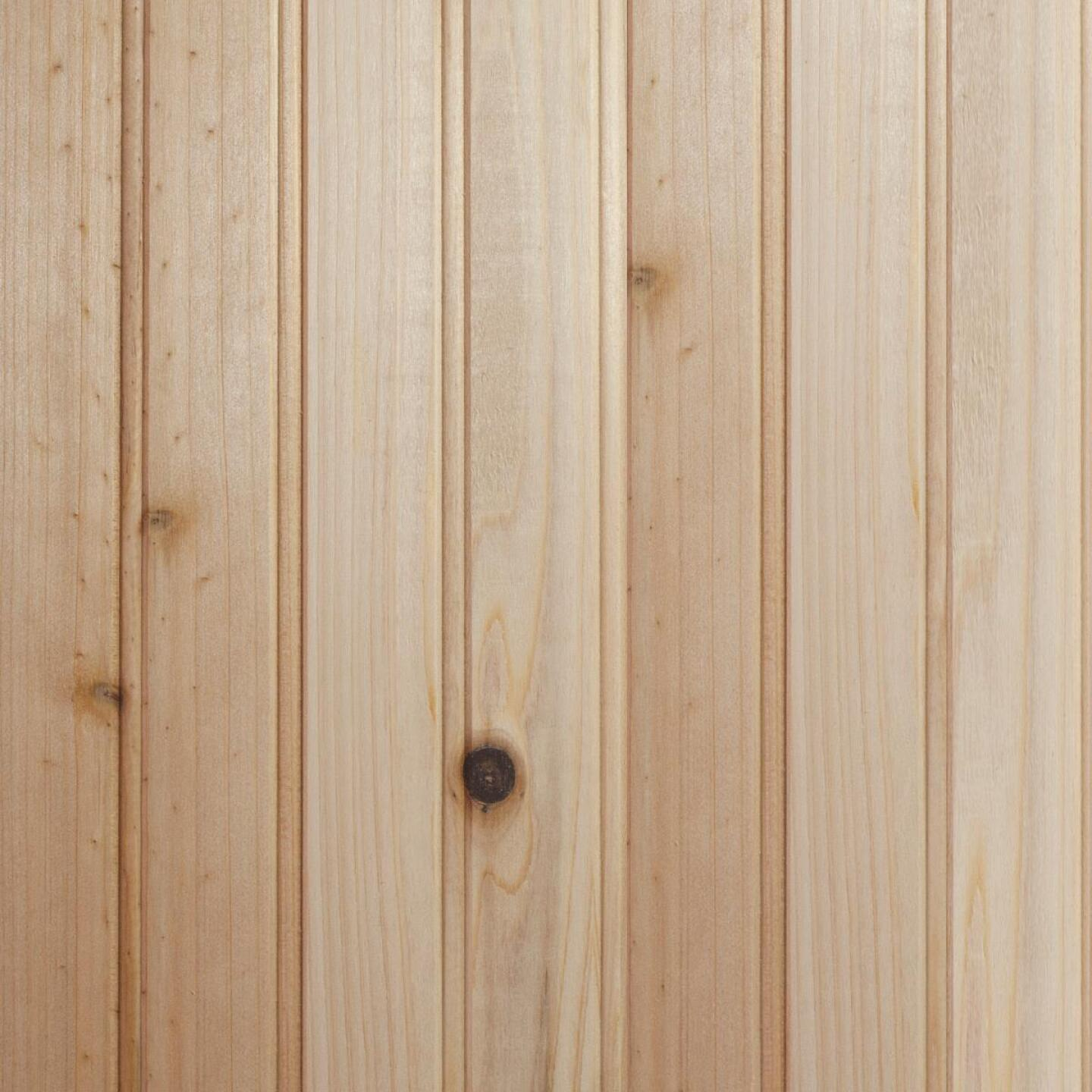 Global Product Sourcing 3-1/2 In. W. x 8 Ft. L. x 1/4 In. Thick Knotty Cedar Reversible Profile Wall Plank (6-Pack) Image 1