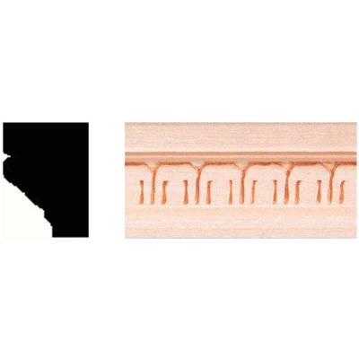 House of Fara 3/4 In. x 1 In. x 8 Ft. Hardwood Decorative Molding