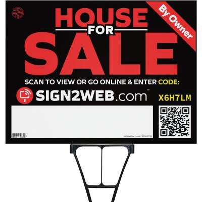 Sign2Web 18 In. x 24 In. Double-Sided House For Sale By Owner Sign