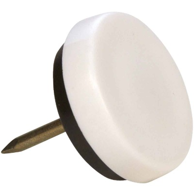 Magic Sliders 1-1/8 In. Round Nail on Furniture Glide,(4-Pack)