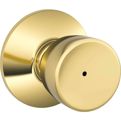 Schlage Bell Bright Brass Bed & Bath Door Knob