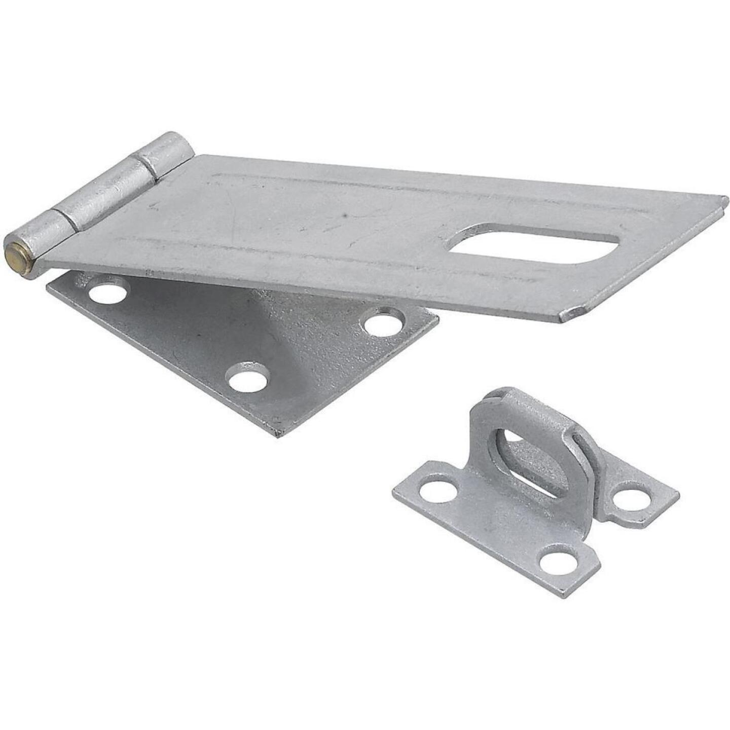 National 6 In. Galvanized Non-Swivel Safety Hasp Image 1