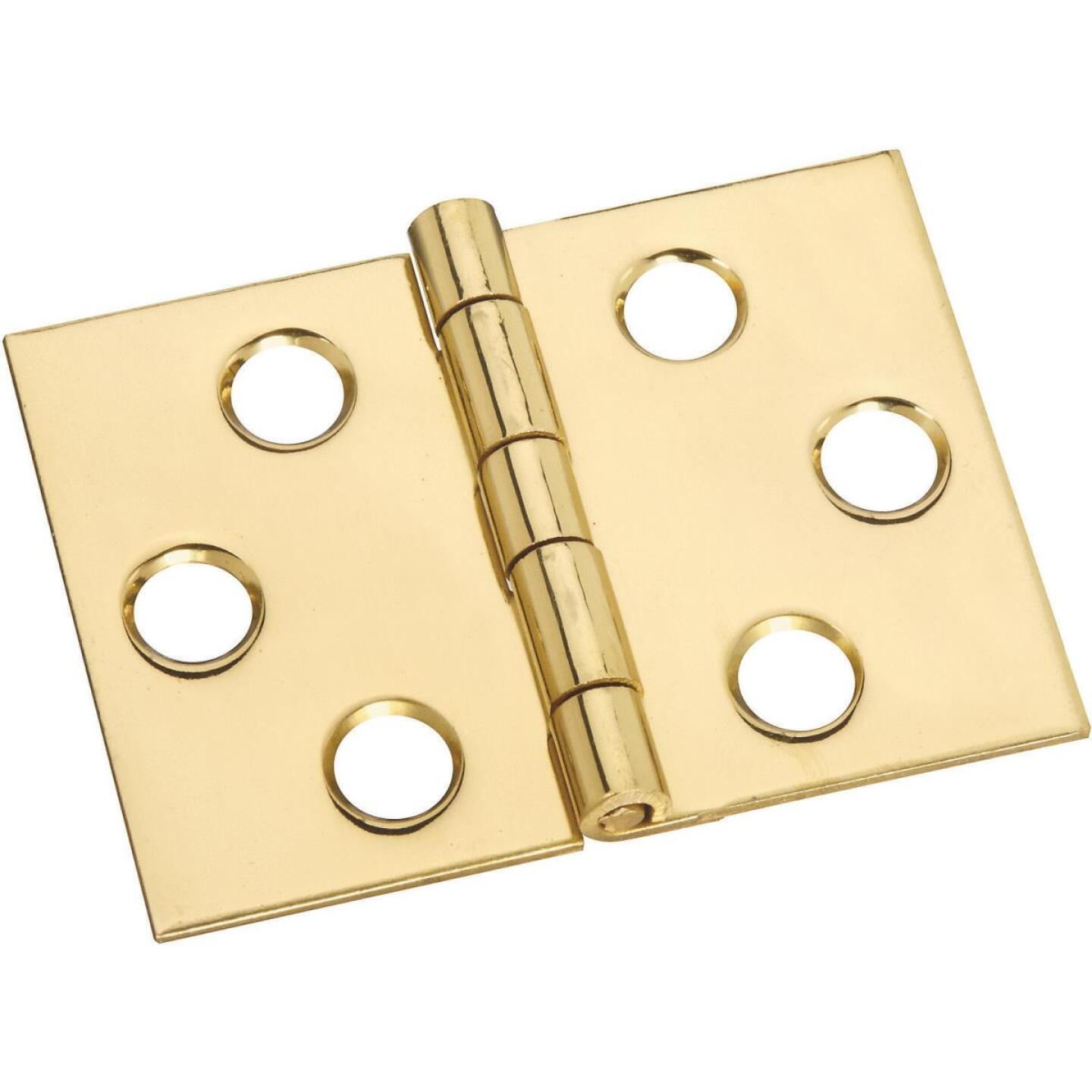 National 1-1/2 In. x 2 In. Brass Desk Hinge (2-Pack) Image 1