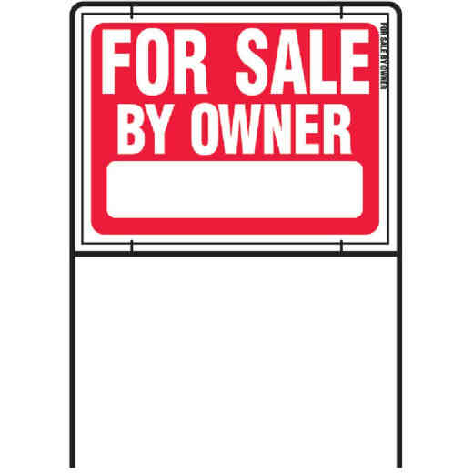 Hy-Ko Plastic with Metal Frame Sign, For Sale By Owner