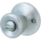 Steel Pro Satin Chrome Bed & Bath Door Knob Image 1