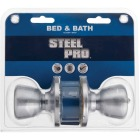Steel Pro Satin Chrome Bed & Bath Door Knob Image 2