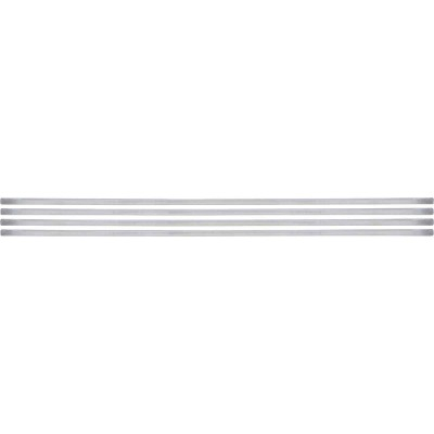 Smart Edge 0.27 In. x 18 In. Peel & Stick Edge Backsplash Trim, Brillo (Silver Metallic) (4-Pack)