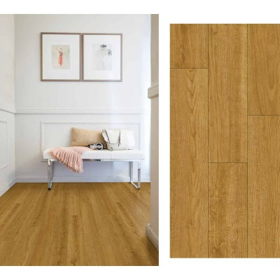 Mohawk Daventry Harvest Teak 6 In. W x 48 In. L Luxury Vinyl Rigid Core Floor Plank (32.18 Sq. Ft./Case)