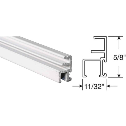 Prime-Line Make-2-Fit 11/32 x 5/8 x 72 White Aluminum Triple Track Screen Frame