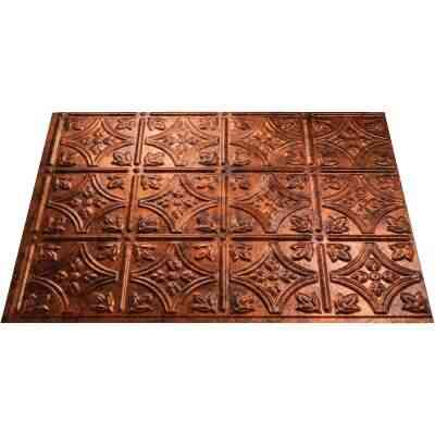 Fasade 18 In. x 24 In. Thermoplastic Backsplash Panel, Moon Copper Traditional 1
