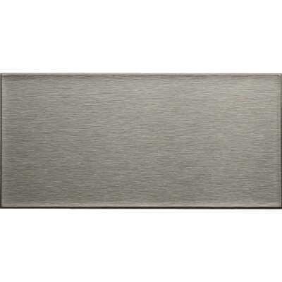 Aspect 3 In. x 6 In. Aluminum Backsplash Peel & Stick, Long Grain Stainless (8-Pack)