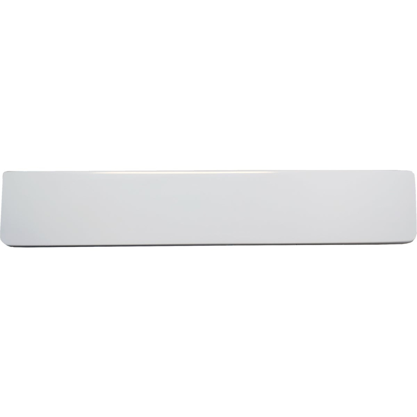 Modular Vanity Tops 4 In. H x 22 In. L Solid White Cultured Marble Side Splash, Universal Image 2