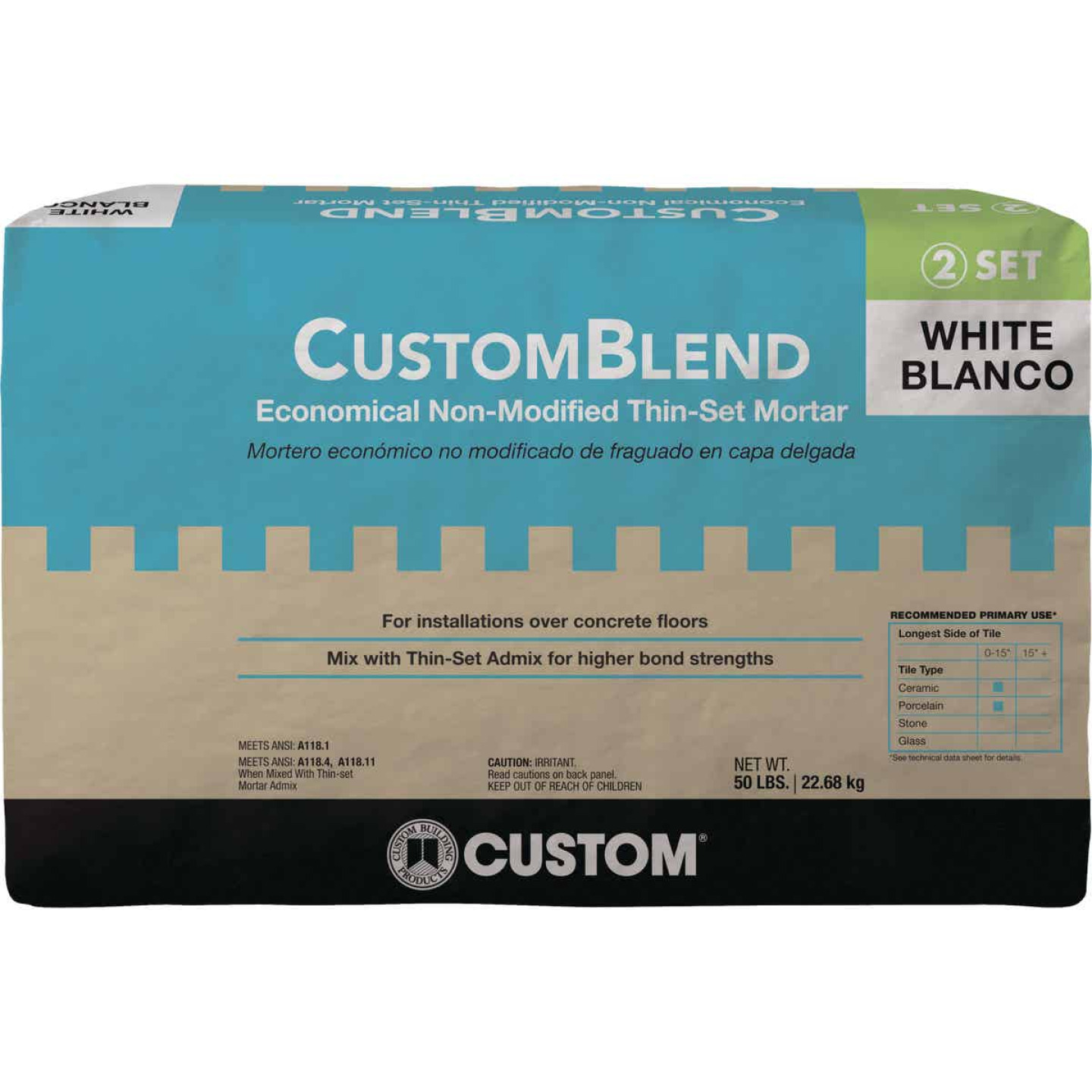 Custom-Blend 50 Lb. White Mortar Mix Image 1