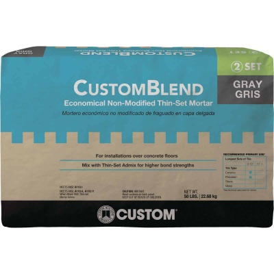 Custom-Blend 50 Lb. Gray Mortar Mix