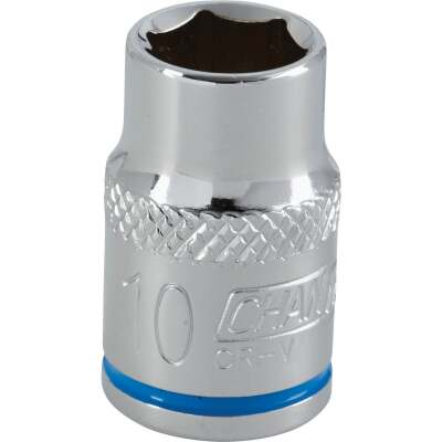Channellock 3/8 In. Drive 10 mm 6-Point Shallow Metric Socket