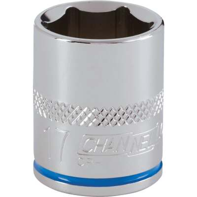 Channellock 3/8 In. Drive 17 mm 6-Point Shallow Metric Socket