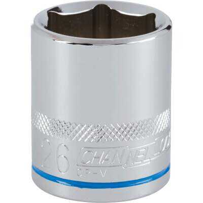 Channellock 1/2 In. Drive 26 mm 6-Point Shallow Metric Socket