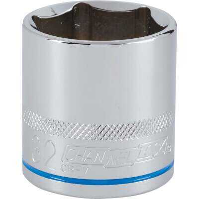 Channellock 1/2 In. Drive 32 mm 6-Point Shallow Metric Socket