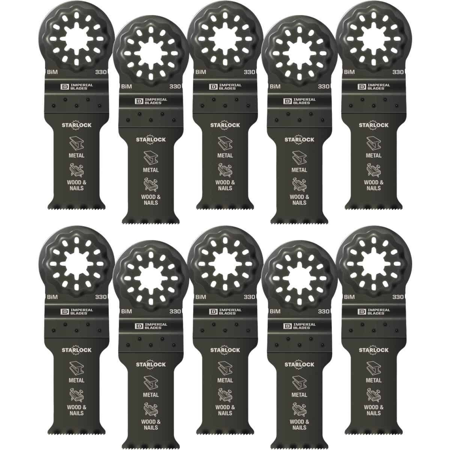 Imperial Blades Starlock 1-1/8 In. 18 TPI Metal/Wood Oscillating Blade (10-Pack) Image 1