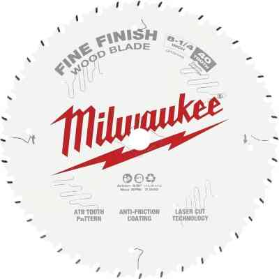 Milwaukee 8-1/4 In. 40-Tooth Fine Finish Circular Saw Blade