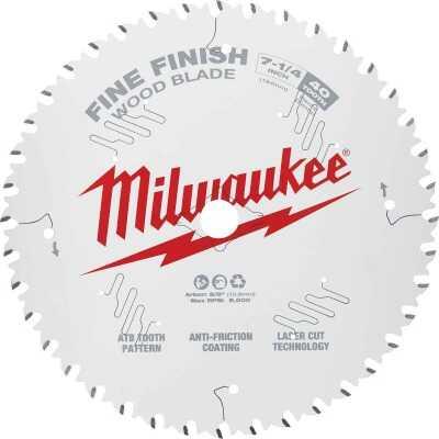 Milwaukee 7-1/4 In. 40-Tooth Fine Finish Circular Saw Blade, Bulk