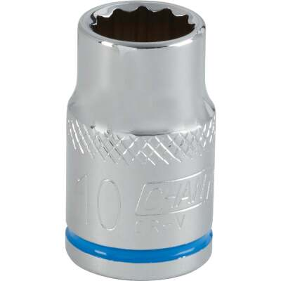 Channellock 3/8 In. Drive 10 mm 12-Point Shallow Metric Socket