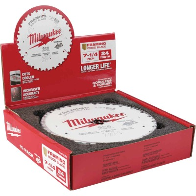 Milwaukee 7-1/4 In. 24-Tooth Framing Worm Drive Circular Saw Blade, Bulk