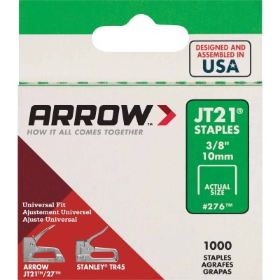 Arrow JT21 Light Duty Staple, 3/8 In. (1000-Pack)
