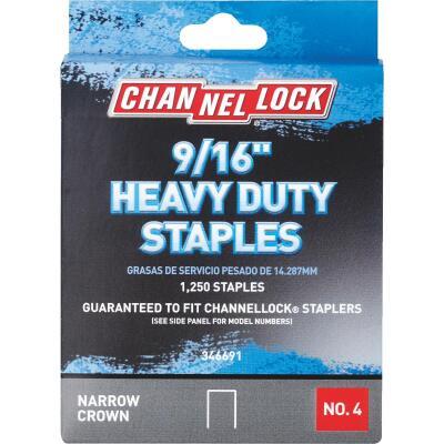Channellock No. 4 Heavy-Duty Narrow Crown Staple, 9/16 In. (1250-Pack)