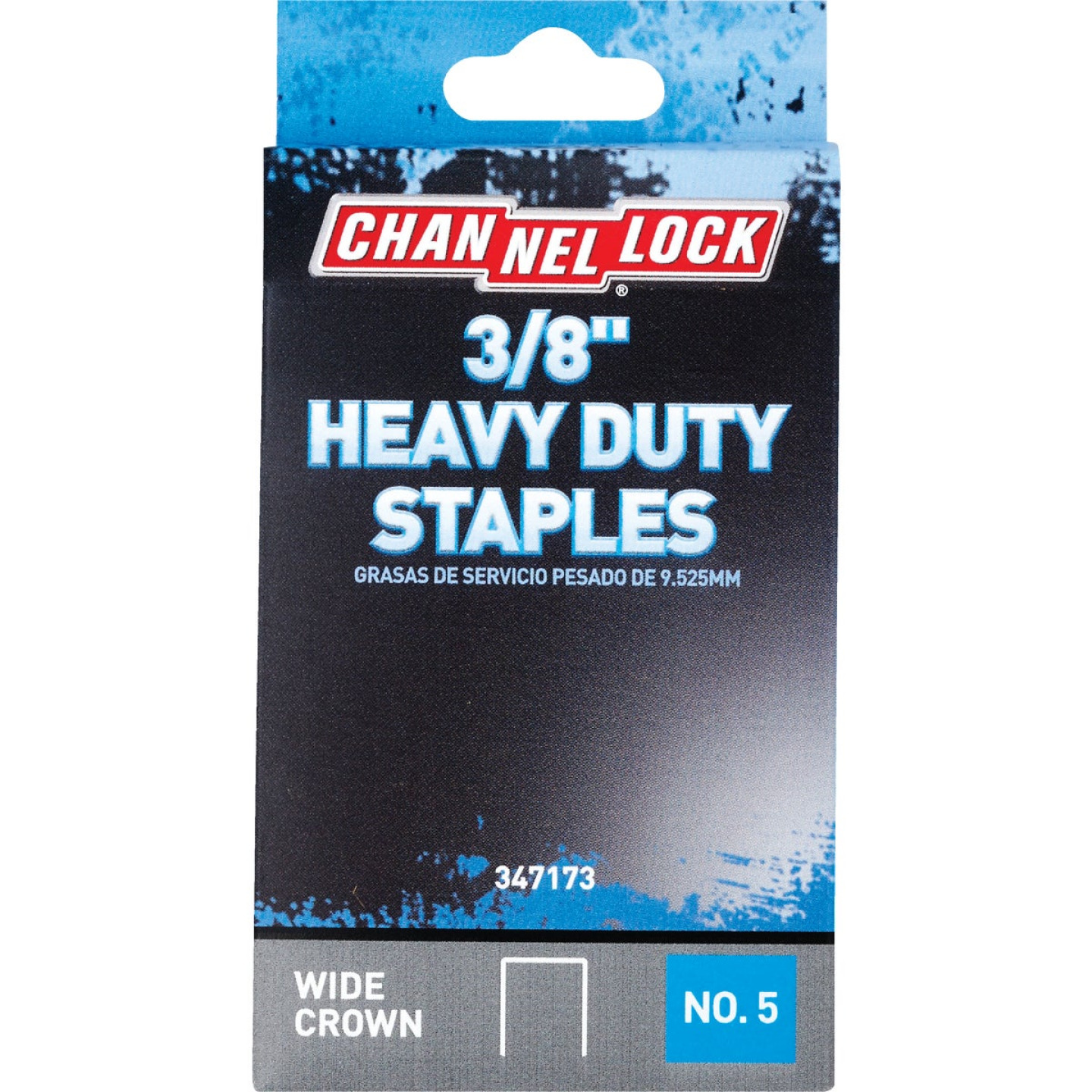 Channellock No. 5 Heavy-Duty Wide Crown Staple, 3/8 In. (1000-Pack) Image 1