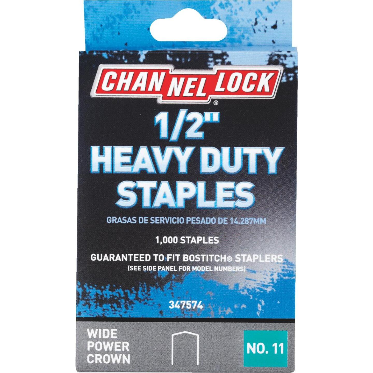 Channellock No. 11 Heavy-Duty Wide Power Crown Staple, 1/2 In. (1000-Pack) Image 1