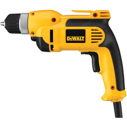 DeWalt 3/8 In. 8-Amp Keyless Electric Drill with Case