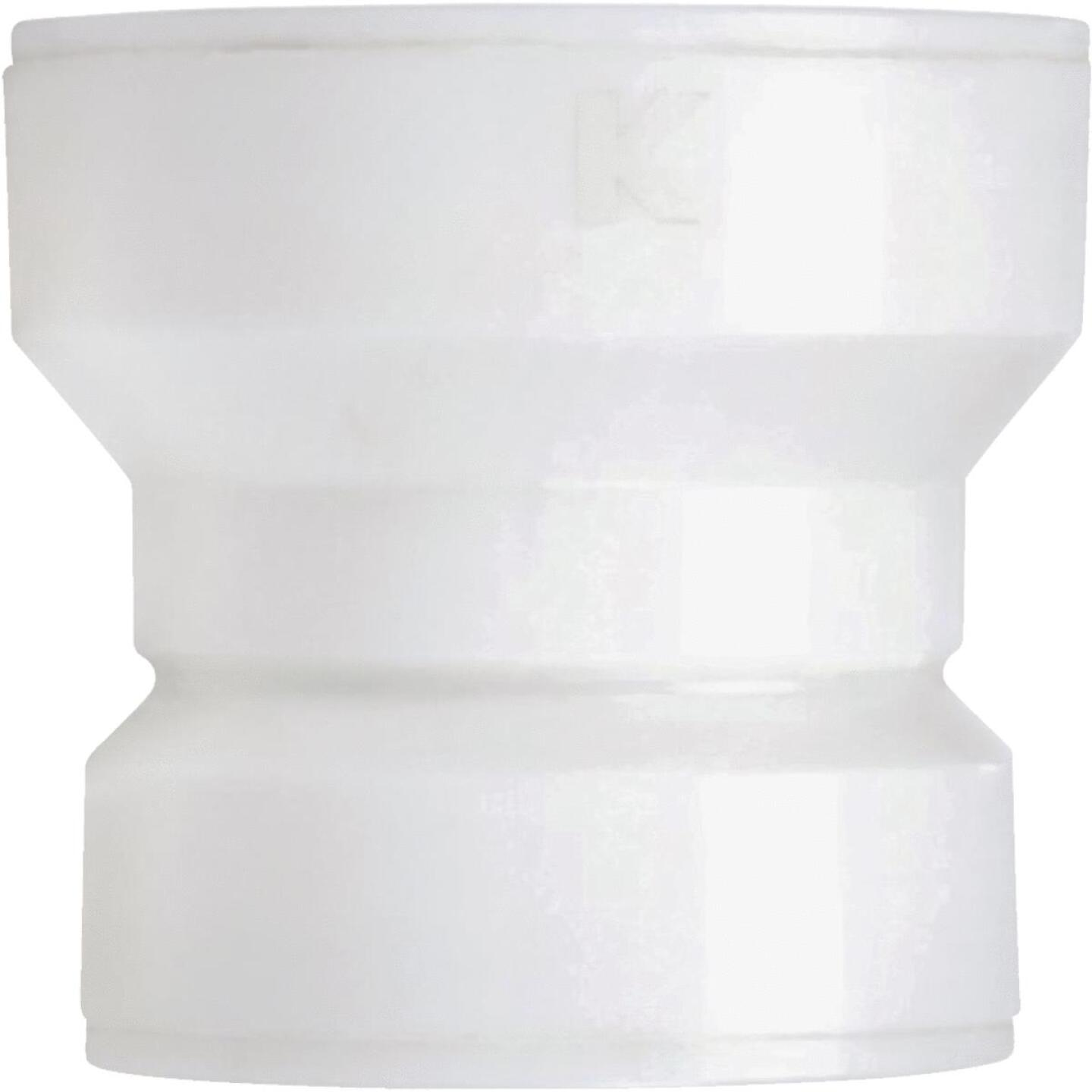 Keeney Insta-Plumb 1-1/2 In. x 1-1/2 In. White Plastic Trap Waste Adapter Image 1