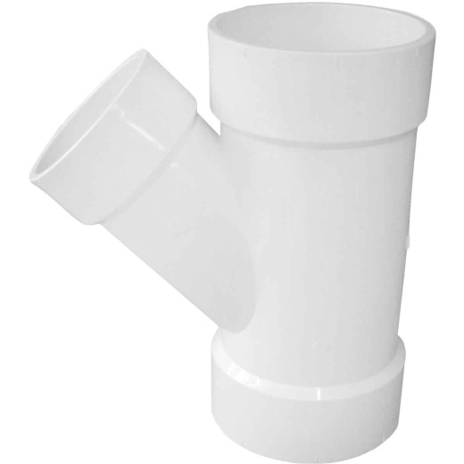 Charlotte Pipe 4 In. x 3 In. Schedule 40 DWV Reducing PVC Wye