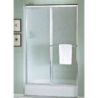 Sterling Deluxe 48-7/8 In. W. X 70 In. H. Chrome Rain Glass Sliding Shower Door Image 1