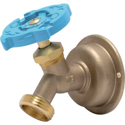 Sharkbite 1/2 In. SB x 3/4 In. MHT Multi Turn Brass No Kink 45 Degree Hose Bibb