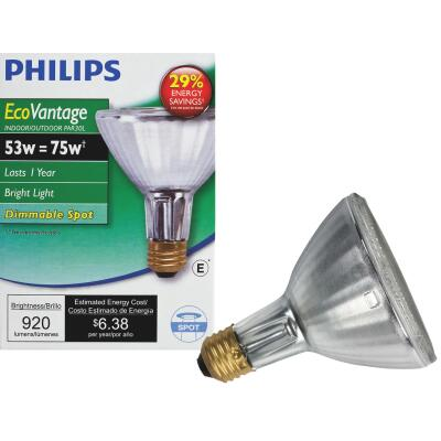 Philips EcoVantage 75W Equivalent Clear Medium Base PAR30L Halogen Spotlight Light Bulb