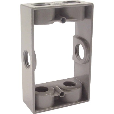 Bell 6-Outlet 1/2 In. NPT Die-Cast Aluminum Weatherproof Outdoor Box Extension Adapter
