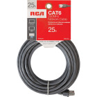 RCA 25 Ft. CAT-6 Gray Network Cable Image 2