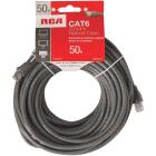 RCA 50 Ft. CAT-6 Gray Network Cable Image 1