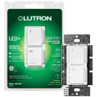 Lutron Maestro White Dimmer & Fan Control Switch Image 4