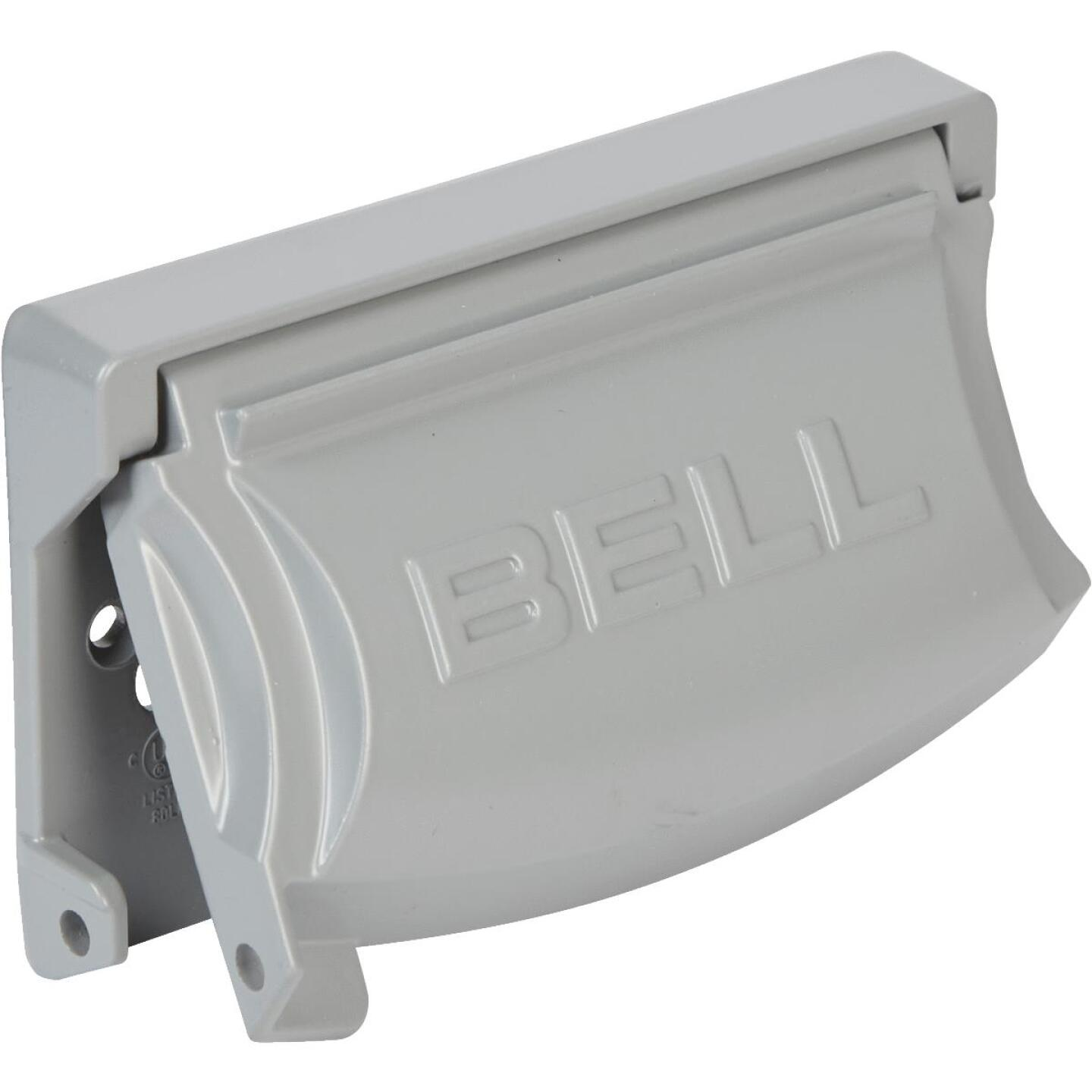 Bell Single Gang Multi-Configuration Die-Cast Metal Gray Outdoor Outlet Cover Image 1